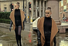 BERSHKA (ZARA GROUP) BNWT BROWN JACKET COAT WITH FAUX LEATHER SLEEVES SIZE M