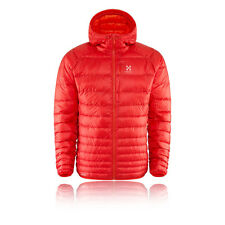 Haglofs Essens III Down Mens Red Water Resistant Hooded Outdoors Jacket Top