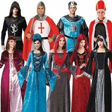 Medieval King Royal Knight Princess Gothic Maiden Crusader Fancy Dress Costume