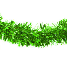 Thick Green Deluxe Luxury Metallic Christmas Tree Tinsel Decoration