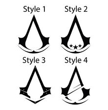 Set of Two Assassins Creed Logos Sticker Decals - Four Styles Available