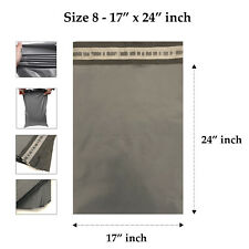 "17"" W x 24"" L Grey Plastic Mailing Postage Bag Cheapest on Ebay- 100 for £12.99"