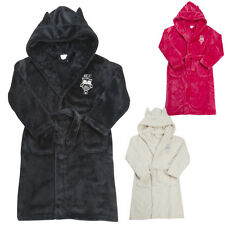 Girls Dressing Gown Robe Beautiful Flannel Fleece 7-8 9-10 11-12 and 13 Year