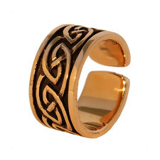 Bronze Ring with celtic knots Ring from Bronze adjustable