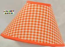 Orange Gingham Lamp Shade (Made by LBC)  SHIPS WITHIN 24 TO 48 HOURS!!!