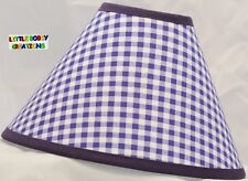 Purple Gingham Lamp Shade (Made by LBC)  SHIPS WITHIN 24 TO 48 HOURS!!!