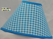 Turquoise Gingham Lamp Shade (Made by LBC)  SHIPS WITHIN 24 TO 48 HOURS!!!