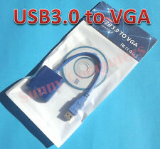 USB 3.0 to VGA Adapter Cord External Display Graphic Video Card for Win 10 8 7
