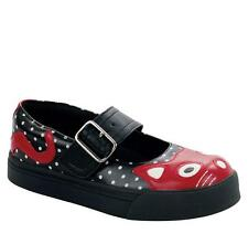 T.U.K A8425L TUK Black / White Polka Dots & red Kitty MJ Sneaker trainers