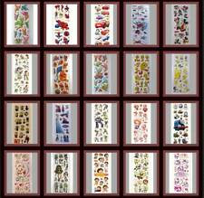 Sheet of Puffy Stickers - Spiderman,Cars,Dora,Frozen,Pooh,Tweety,Pokemon,Mickey