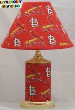 MLB St. LOUIS CARDINALS MATCHING LAMP & SHADE SET! SHIPS WITHIN 24 - 48 HOURS!