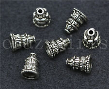 10/50/260pcs Tibetan Silver Beautiful Small Tower Charms Spacer Beads DIY 10x7mm