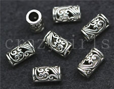 20/100/500pcs Tibetan Silver Exquisite Cylinder Jewelry Charm Spacer Beads 9x5mm