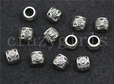 Lot 20/100/500pcs Tibetan Silver Cylinder Spacer beads Charms Jewelry DIY 6x5mm