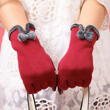 Attractive Beauty Lady Touch Screen Winter Warm Weaved Knit Wrist-Gloves Mittens