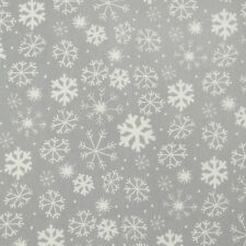 Christmas Grey and White Snowflakes Tablecloth Oilcloth Wipeclean PVC Vinyl