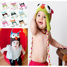 Cute Baby Boy/Girl/Toddler Owls Knit Crochet Hat Children Beanie Caps 10 Colors