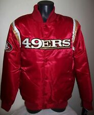 SAN FRANCISCO 49ERS Satin Jacket STARTER New Style M,  XL, RED GOLD