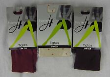 Womens Hanes Tights 3 Pair- Red Brown Seasonless Control Top , Dot Sz M & Tall