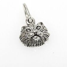 Kitty Cat Face 925 Sterling Silver Bracelet Mini Charm with Options 1800