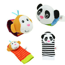 Soft Animal Baby Infant Kids Wrist/Foot Sock Rattles Toys Developmental