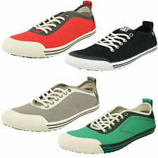 MENS CATERPILLAR ALIAS LACE UP FLAT PUMPS CANVAS SHOES EVERYDAY CASUAL TRAINERS