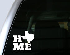 Texas Home, Home State - Car Window Decal, Bumper Sticker, Laptop Decal