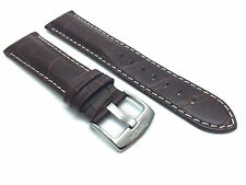 Brown Leather Alligator Watch Strap Band 18mm 20mm 22mm 24mm 26mm Fits Breitling