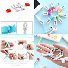 Silicon Earphone Headphone Cable Wire Cord Organizer Management Winder Cable