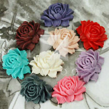 Peony Flower Vintage Cameo Resin Cabochons 46x36mm wholesale 9 colours u choose