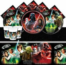 STAR WARS Heros & Villains Birthday Party Supplies Tableware Decorations Banners