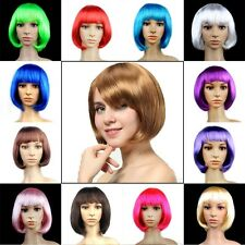 US Shipping Bob Costume Full Wig Short Hair Lady Women Sexy Anime Cosplay Wigs L