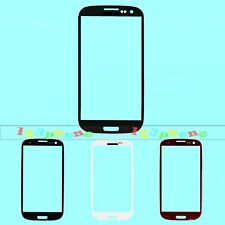 Front Outer Lens Touch Glass / Sticker Adhesive For Samsung Galaxy S3 i9300