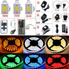 5M 10M 20M SMD 3528 5050 5630 300 LED Flexible Strip Light +Remote +Power Supply