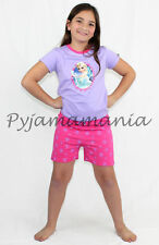 Pyjamas Girls Summer (Sz 2-7) 2pc Pjs Set Purple Frozen Disney Elsa Sz 3 4 5 6 7
