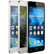 "Unlocked 5.5"" Quad Core Dual SIM 5MP Smartphone 8GB Android Cell Phone 3G GPS"