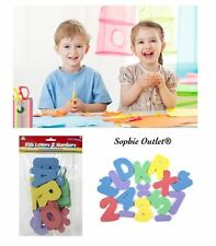 Kids Multi Coloured Foam Alphabet Capital Letters Numbers Shapes Craft Gift Pack