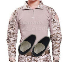 Tactical Military Army Hunting BDU Long Sleeve Camo Shirt with Elbow Pads AOR1