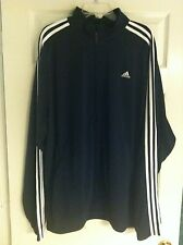Adidas Mid-Weight Tricot Men's 3-Stripe Jacket Size 2XL