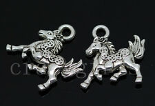10/40/200pcs Tibetan Silver Two-Sided Money horse Jewelry Charms Pendant 16x14mm
