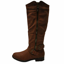 Blossom Pita 31 Cognac Women's Casual Slouchy Knee High Boots