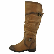Blossom Pita 32 Nude Women's Slouchy Knee High Classic Riding Boots