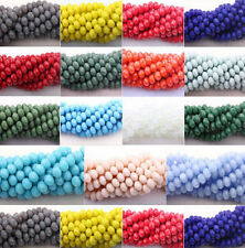 HOT!!! 4mm/6mm/8mm/10mm Charm Glass Crystal Faceted Rondelle Spacer Loose Beads