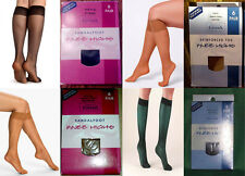 Lot Basic Editions Sandal foot Knee Highs Nude Black One Size Regular Queen
