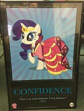My Little Pony San Diego Comic Con 2011 Rarity Confidence Motivational Poster
