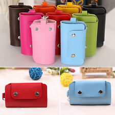 Hot  Men Women PU Leather Key Chain Accessory Pouch Bag Wallet Case Key Holder