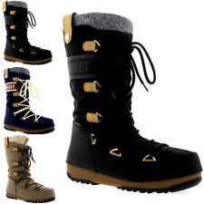 Womens Tecnica Original Moon Boot Monaco Felt Waterproof Mid Calf Boot US 5.5-10