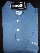 NEW MEN'S PING ALBATROSS PERFORMANCE Golf Polo Shirt, BLUE, PICK A SIZE