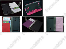 Multi Color Leather Cover Flip Case HOLDER WALLET For Sony Xperia P LT22i