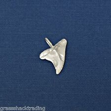 SHARK TOOTH Solid Sterling Silver Pendant - Charm w/ Options # 2025